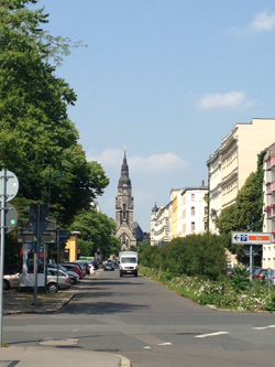 view of a street in the city of Leipzig, Germany; photo credit: Carolin Kablau