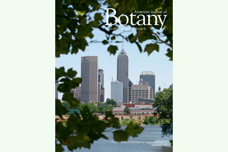 cover photo of American Journal of Botany August 2017